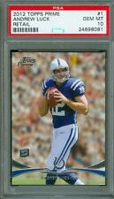 2012 Topps Prime Retail Andrew Luck #1 PSA 10 Rookie Colts