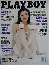 SHANNEN DOHERTY March 1994 PLAYBOY CARLA BRUNI  MIMI ROGERS  HALLE BERRY