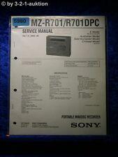 Sony Service Manual MZ R701 /R701DPC Mini Disc Recorder (#5980)