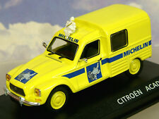 "DIECAST 1/43 CITROEN ACADIENE VAN  ""MICHELIN""  WITH BIBENDUM TYRE FIGURE ON ROOF"