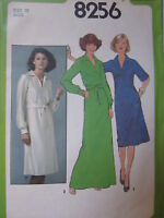 8256 Vintage Simplicity SEWING Pattern Misses Dress 6-16 1977