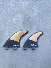 Compatible FCS Carbon/ Bamboo Surfboard fins Quad Tri NEW 7 template (5 Fin Set)