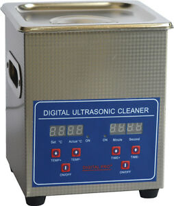 Digital Stainless Ultrasonic Cleanning Machine 10A Control LCD with Basket 2L