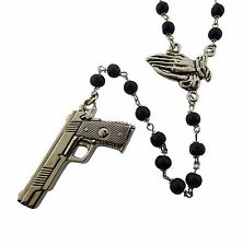 Gun Praying Hands Rosary Rock Rebel Original Logo Metal Gothic Tattoo Tribal