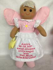 "personalised memorial bereavement 16"" 40cm angel rag doll or your message"