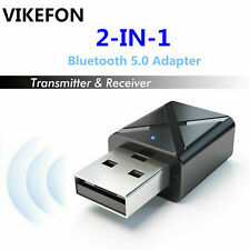 2 in1 USB Bluetooth 5.0 Transmitter Receiver AUX Audio Adapter for TV/PC/Car