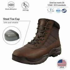 US Men's Safety Steel Toe Work Boots Construction Slip Resistant Industrial Boot