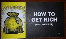 """How To Get Rich""   Christian tract ( 1 tract )"