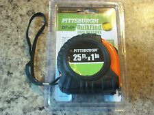 NEW 25 ft.x 1in.Tape Measure Pittsburgh QuikFind Standard, Inches/Feet NO RES