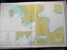 """1980 HARBOURS in FIRTH of CLYDE Navigational Sea Chart Map 28"""" x 41"""" B52"""
