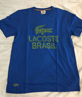 Lacoste Live Brasil T Shirt - Blue - Limited Edition - S M L XL Clearance Stock