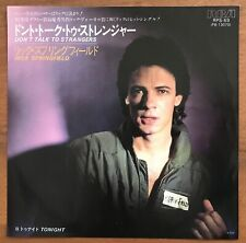 "Rick Springfield – Don't Talk To Strangers / Tonight Japan 7"" Vinyl RPS-69"