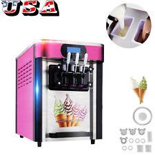 Commercial Soft ice cream making machine Desktop automatic drum 3 flavors 2019