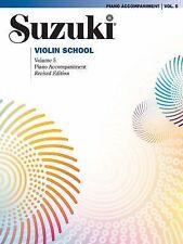 SUZUKI VIOLIN VOLUME 5 PIANO ACCOMPANIMENT - VIOLIN METHOD BOOK 35172