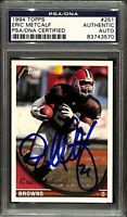 Eric Metcalf Signed 1994 Topps #251 Cleveland Browns Football Card PSA/DNA