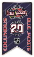 2020-2021 NHL COLUMBUS BLUE JACKETS 20TH ANNIVERSARY PIN BANNER STYLE LIMITED!
