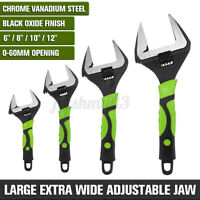 """Adjustable Large Extra Wide Jaw 6~12"""" 60mm Spanner Wrench Capacity Nut Pipe 🔥"""