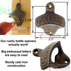 Open Here Beer Soda Bottle Opener Rustic Cast Iron Wall Mounted Vintage Style