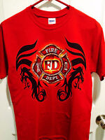 Fire Department T-Shirt - Red - x-Large Mens