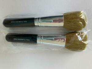 2 Bare Escentuals bareMinerals FULL FLAWLESS FACE Brush-NEW & Sealed  *6 Inches*