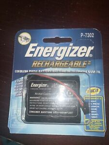Energizer Rechargeable Cordless Phone Battery P-7302 New
