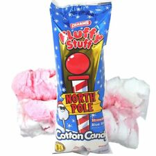 Fluffy Stuff North Pole Stawberry and Blue Razz Flavored Cotton Candy, 2 oz,