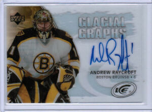 05/06 UD ICE HOCKEY GLACIAL GRAPHS AUTOGRAPH AUTO CARDS (GG-XX) U-Pick From List