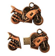 Moto Motor bike bronze en métal clé USB 8 GB Mémoire / USB Flash Drive