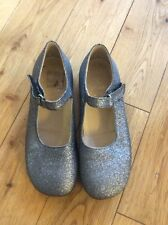 Equerry Italian Designer Girls Christmas Party Silver Shoes Size 12