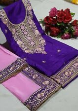 Unstitched Punjabi Suit Indian Pakistan Trendy Salwar Kameez