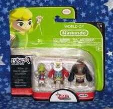 New The Legend of Zelda Wind Waker Micro Land Nintendo Figure 3 Pack Ganondorf