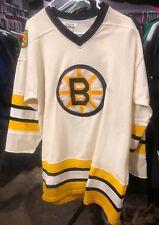 BOSTON BRUINS VINTAGE EARY 1980s SAND KNIT NHL HOCKEY JERSEY