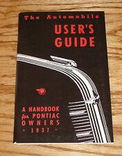 1937 Pontiac Owners Operators Manual Service Guide 37