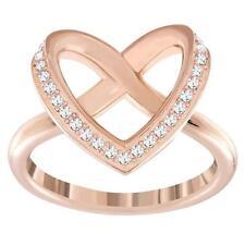 SWAROVSKI CUPIDON ROSE GOLD PLATED CRYSTAL RING (SIZE 52/SMALL) MIB #5139687