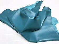 Italian Lambskin leather skin skins hide hides TURQUOISE BLUE 5sqf