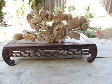 A81. Antique Carved Gold Gilt Wood Panel with Flower
