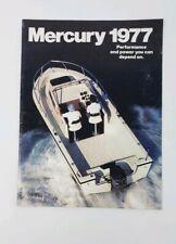 Vintage 1977 Mercury Outboard Catalog - Power Boat Brochure