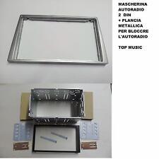 OPEL CORSA 2000-2006 MASCHERINA 2DIN COLORE SILVER+PLANCIA METALLICA