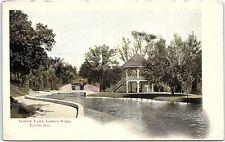 Postcard IL Elgin Lower Lake Lord's Park UDB K128