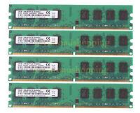 4x 2GB DDR2 800MHz PC2-6400U 240PIN DIMM Unbuffered Desktop memory NON-ECC RAM