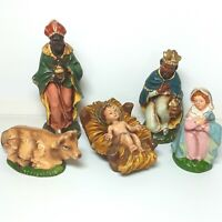 Christmas Nativity figure ornament figurine Composition and plastic Vintage Old
