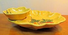 made in California porcelain chip and dip serving bowl FR 209 by Maurice