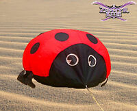 Gomberg 4FT Ladybug Ground Bouncer inflatable kite windsock kite line laundry