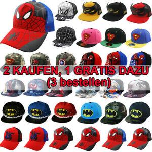 Kinder Basecap Kappe Jungen Hut Marvel Superman Spiderman Batman Baseball Cap
