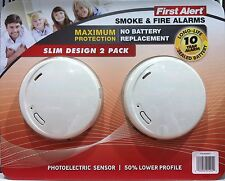 First Alert 10 Year Photoelectric Smoke & Fire Alarm 2Pack