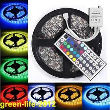 5M 5050 SMD 300 RGB Waterproof LED Flexible Strip Light Lamp +44 Keys IR Remote