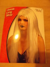 Wicked Costumes Classic Long Silver Wig ONE SIZE BNWT