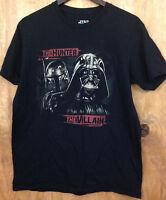 Stars Wars Men's Darth Vader Boba Fett Black T Shirt size Large (36A9)
