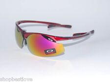 Flak Sunglasses w/ Metallic Fire Jade Cherry Red M-Frame