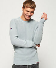 Superdry Mens Garment Dyed L.A. Textured Crew Jumper